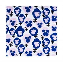 芬蘭Kauniste純棉手帕/包巾 (紫色三色堇)