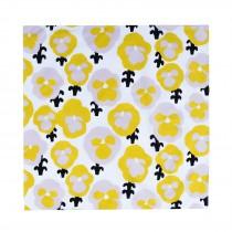 芬蘭Kauniste純棉手帕/包巾 (黃色三色堇)