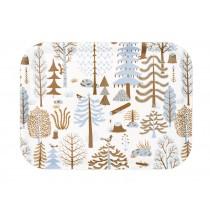 芬蘭Kauniste白樺木托盤(藍色森林)