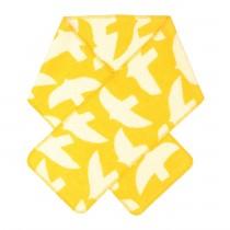 芬蘭Kauniste雙面羊毛圍巾 (黃色群鳥)