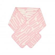 芬蘭Kauniste雙面羊毛圍巾 (粉色枝椏)
