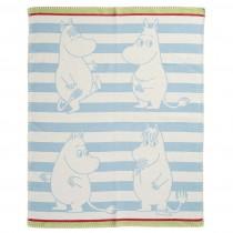 小型有機綿蓋毯 (嚕嚕米 藍色)