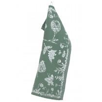 芬蘭Lapuan Kankurit AAMOS棉麻萬用巾 (綠)