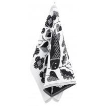 芬蘭Lapuan Kankurit x 鹿兒島睦鯉魚棉麻萬用巾 (黑)