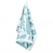 芬蘭Lapuan Kankurit x 鹿兒島睦鯉魚棉麻萬用巾 (水藍)