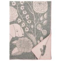 芬蘭Lapuan Kankurit x 鹿兒島睦合作款貓狗羊毛毯 (粉灰)