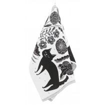 芬蘭LAPUAN KANKURIT 鹿兒島睦合作款萬用巾 (貓狗 黑)