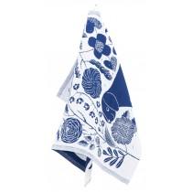 芬蘭Lapuan Kankurit x 鹿兒島睦貓狗棉麻萬用巾 (藍莓)