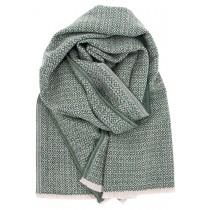 芬蘭Lapuan Kankurit KOLI 美麗諾羊毛圍巾 (墨綠)