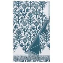芬蘭Lapuan Kankurit x 鹿兒島睦花束棉麻薄毯/桌巾 (綠)