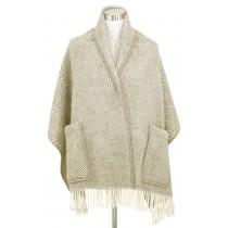 芬蘭Lapuan Kankurit MARIA 羊毛口袋披肩 (淺咖啡條紋)
