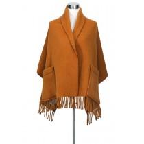 芬蘭Lapuan Kankurit UNI 單色羊毛口袋披肩 (rust)