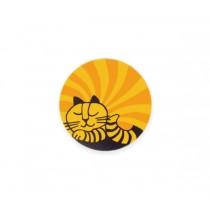 Lisa Larson 愛睡貓白樺木杯墊 (橘)