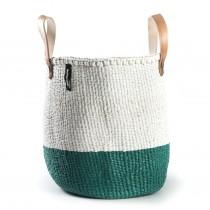 芬蘭mifuko短把兩用編織籃 (50/50草綠)