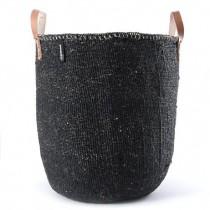 芬蘭mifuko短把大型編織籃 (黑)