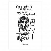 芬蘭CupOfTherapy原裝明信片 - My creativity is my sun