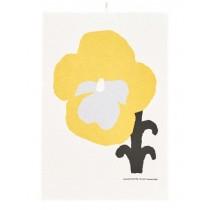 芬蘭Kauniste棉麻萬用巾 (黃色三色堇)