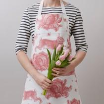 英國Thornback & Peel100%純棉圍裙 (粉色小兔與包心菜)