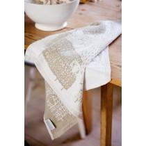 芬蘭Lapuan Kankurit PÄKÄPÄÄT棉麻萬用巾 (米白)