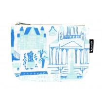芬蘭Kauniste棉麻小化妝包 (綠色赫爾辛基)