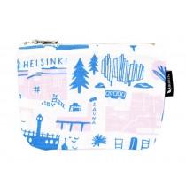 芬蘭Kauniste棉麻小化妝包 (粉色赫爾辛基)